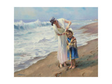 Beach side Diversions Giclee Print by Steve Henderson