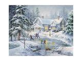 A Fine Winter's Eve Giclée-tryk af Nicky Boehme