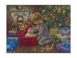 A Golden Christmas Giclée-tryk af Tricia Reilly-Matthews