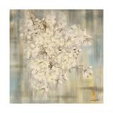 White Cherry Blossom I Reproduction procédé giclée par li bo