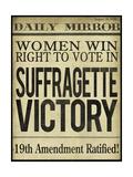 Women's right to Vote Giclee-trykk