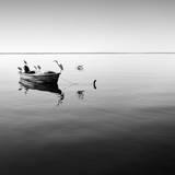 Boat and Heron II Fotografie-Druck von Moises Levy