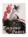 Casino de Paris Red and Black Giclee Print