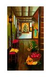 Colonial Christmas Tree Reproduction procédé giclée par Bonnie B. Cook