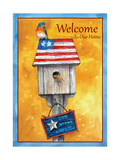Blue Bird American Welcome Giclee Print by Melinda Hipsher