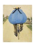 Blue Bicycle Rider Lámina giclée