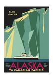 Alaska Taku Glacier Giclée-tryk