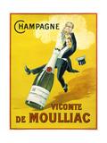 Champagne Vicomte De Moulliac Giclee-trykk