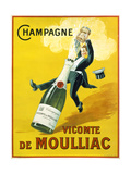Champagne Vicomte De Moulliac Reproduction procédé giclée