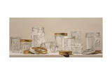 Canning Jars and Lids Giclee Print by Laurin McCracken
