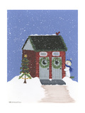 Brick Outhouse Giclee Print by Debbie McMaster