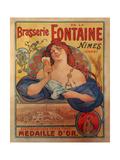 Brasserie Fontaine Giclée-tryk