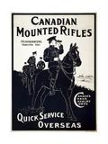 Canadian Mounties Giclée-vedos