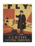 Curtiss Flying Service Giclee Print