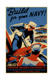 Build for Your Navy Giclee Print
