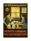 Canadians Will Not Hoard Food Giclée-vedos