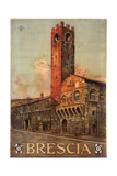 Brescia Italy Travel Poster Giclee Print