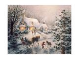 Christmas Visit Impressão giclée por Nicky Boehme