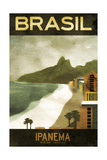 Brasil Ipanema Giclée-tryk
