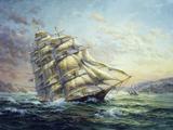 Clipper Ship Surprise Giclee-trykk av Nicky Boehme