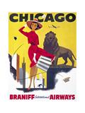 Chicago, Braniff International Airways Gicléetryck