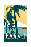 Hawaii Travel Poster Giclee Print by Michael Jon Watt