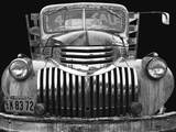 Chev 4 Sale - Black and White Stretched Canvas Print by Larry Hunter