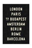 Europe Cities Reproduction procédé giclée par Michael Jon Watt