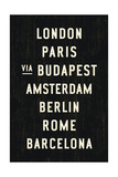Europe Cities Giclee Print by Michael Jon Watt