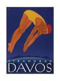 Davos Beach Impressão giclée