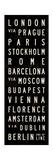Europe Transit Sign Giclée-tryk af Michael Jon Watt