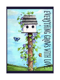 Everything grows with love Giclee Print by Melinda Hipsher