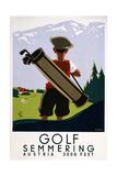 Golf Semmering Giclée-Druck
