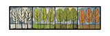 Four Seasons Tree Series Horizontal Reproduction procédé giclée par Tim Nyberg
