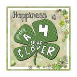 Happiness Is Finding a Four Leaf Clover Giclée-Druck von Megan Aroon Duncanson