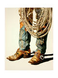 Boots and Rawhide Rope 1 Giclee Print by Laurin McCracken