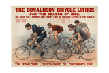 Donaldson Bicycle Lithos for 1896 Season Stampa giclée