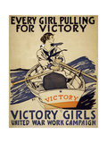 Every Girl Pulling for Victory Stampa giclée