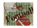 Football américain Reproduction procédé giclée par Karen Williams