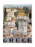 Greece Dandros travel poster Lámina giclée