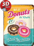 Donuts Tin Sign