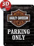 Harley-Davidson Parking Only Plaque en métal