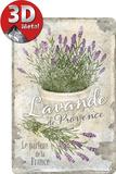 Lavendel aus der Provence Blechschild