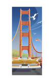 Golden Gate Giclee Print by Larry Hunter