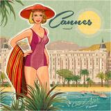Reclameposter Cannes, met Franse tekst Affiches van Bruno Pozzo