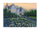 English Cottage lg Giclée-tryk af Bonnie B. Cook