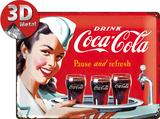 Coca-Cola Tin Sign - Waitress Plaque en métal