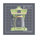 Galaxy Coffeemaid - Lime Giclee Print by Larry Hunter