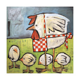 Hen and Chicks after Storm Giclée-tryk af Tim Nyberg