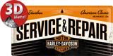 Harley-Davidson Service & Repair Plaque en métal